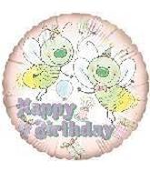 "18"" Happy Birthday Bumble Bee Balloon"