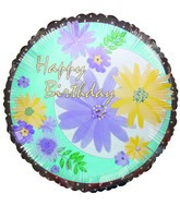 "9"" Airfill Happy Birthday Spring Flowers Balloon"