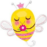 "41"" Queen Bee Shape Mylar Balloon"