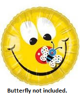 "18"" Smiley Face Balloons (Butterfly not on Balloon)"