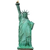 "38"" Statue Of Liberty Shape Mylar Balloon"