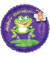 "18"" HOPPY Birthday Frog Flitter"