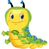 "28"" Cute Caterpillar SuperShape Mylar Balloon"