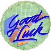 "18"" Good Luck Packaged Mylar Balloon"
