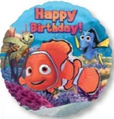 "18"" Happy Birthday Finding Nemo Balloon"