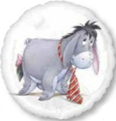 "18"" Eeyore with Tie Mylar Balloon"