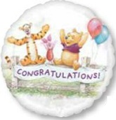 "18"" Winnie the Pooh Congratulations Banner"