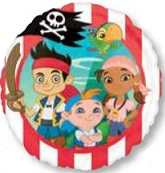"09"" Jake Never Land Pirates Mylar Balloon"