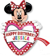 "24"" Minnie Mouse HBD Personalize Jumbo Balloon"