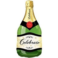 "39"" Celebrate Bubbly Wine Bottle Jumbo Balloon"