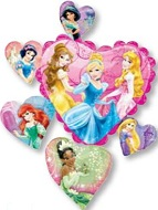 "34"" Disney Princesses Frame Balloon"