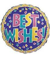"4"" Best Wishes Purple Confetti"