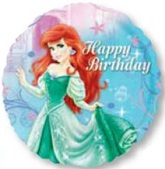 "18"" HBD Ariel Little Mermaid Balloon"