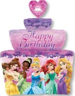 "26"" Disney Princesses Birthday Cake Balloon"