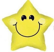 "26"" Smiley Face Star"