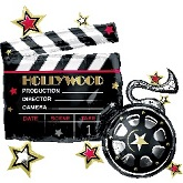 "30"" Hollywood Clapboard Balloon"