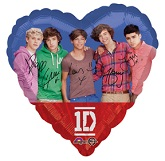 "18"" One Direction Heart Shape Mylar Balloon"