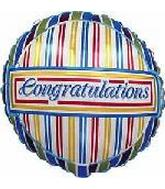 "4"" Airfill Congratulations Stripes"