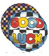 "18"" Good Luck Checkerboard Mylar Balloon"