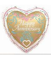 18&#39&#39 Happy Anniversary Golden Heart