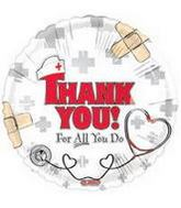 "18"" Thank You For All You Do Nurse/Doctor Balloon"