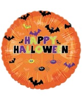 "18"" Happy Halloween Bats and Spiders Balloon"