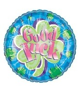 "18"" Good Luck Sparkle Balloon"
