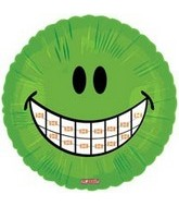 "18"" Smiley Face with Braces Balloon"