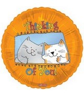 "18"" Thinking of You Cats Balloon"