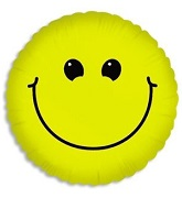"18"" Smiley Face Balloon Single Sided"