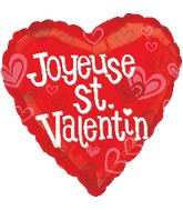 "18"" Joyeuse St. Valentin Balloon (French)"