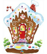 "35"" Gingerbread House Balloon"