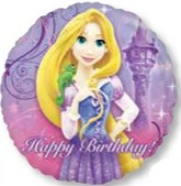 "18"" Tangled Rapunzel Happy Birthday Balloon"