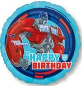 "18"" Transformers Optimus Prime Balloon Happy Birthday"