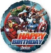 "18"" Happy Birthday Avengers Mylar Balloon"