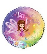 "18"" Fairy Whimsy Birthday Mylar Balloon"