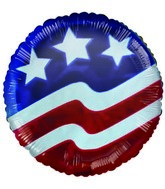 "9"" Airfill Only Balloon American Flag"