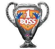 "28"" SuperShape #1 Boss Trophy Balloon Packaged"