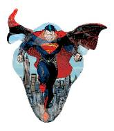 "41"" Flying Superman Shape Mylar Balloon"
