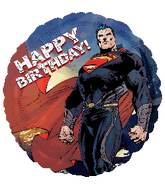 "18"" Superman Man Of Steel Birthday Balloon"