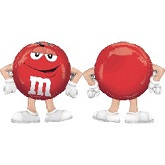 "27"" M&M&#39s-Red Mylar Balloon"