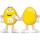 "27"" M&M&#39s-Yellow AirWalker Balloon"