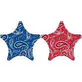 "18"" Blue And Red Bandana Balloon"