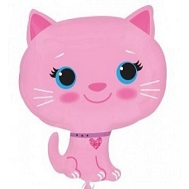 "21"" Jumbo Pink Kitten Balloon"