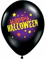 "11"" Happy Halloween Latex Balloons (25 CT)"