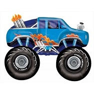 Large Blue Monster Truck Balloon