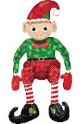 "29"" Sitting Elf Balloon (airfill balloon)"