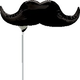 "14"" Airfill Only Black Mustache"