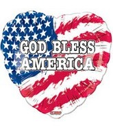 "9"" Airfill God Bless America Balloon"