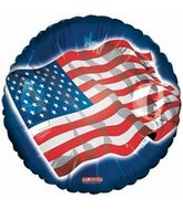 "9"" Airfill Waving US Flag Balloon"